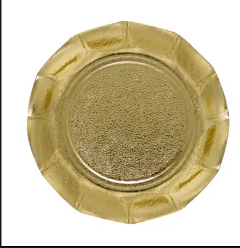 BASE C/BORDA 10CM OURO C/20  5035.01